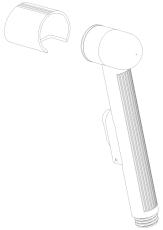 Damixa Reperationssæt sidebruser med vægholder til 140
