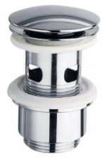 """Johansen 1.1/4"""" push-up bundventil med overløb cylinder krom"""