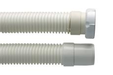 """Afløbsslange 1.1/2"""" x 40/750 mm t/hvid"""