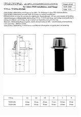 40mm afløbskobling med flange for ø50mm peh-rør