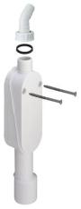 Viega vandlås til væg 40/50 mm med afgang til vaskemaskine