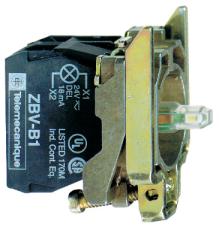 Lampetrykskrop Rød 1Br 24V AC/DC ZB4BW0B42