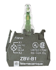 LAMPEKROP ZBVB5 24V AC/DC GUL