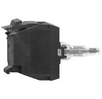Blok med integreret LED grøn 230-240V ZALM3