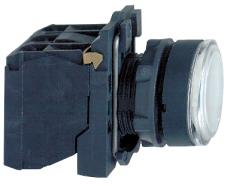 Lampetryk Komplet Hvid 230-240V 1Slutte+1Bryde XB5AW31M5