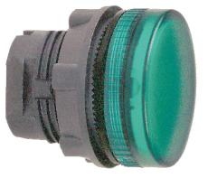 Lampehoved grøn for LED ZB5AV033