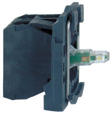 Lampetrykskrop Med LED Hvid 1Sl 24V AC/DC ZB5AW0B11
