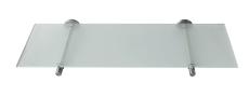 Glas hylde 200 x 600 mm komplet med ø16 mm holdere