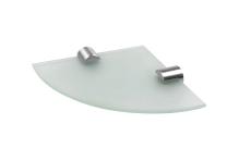 Glas hjørne hylde 150x150 mm inkl holdere