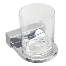 Iris glasholder enkelt forkromet