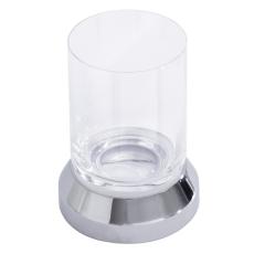 Iris glasholder bordmodel forkromet