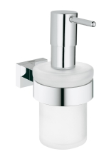 Essentials Cube sæbe dispenser med holder