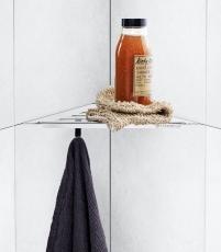 Dansani Match Shower Corner i blank rustfri stål
