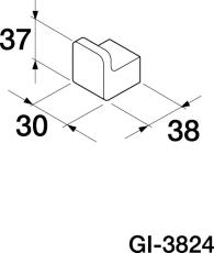GBG G1-3824 Håndklædekrog