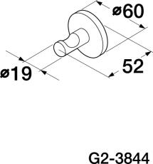 GBG G2-3844 håndklædekrog