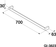 GBG G1-3823 håndklædestang enkelt 700