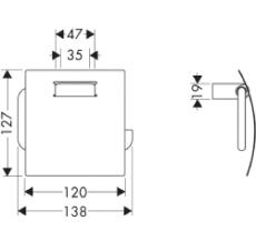 Axor Steel papirholder med låg