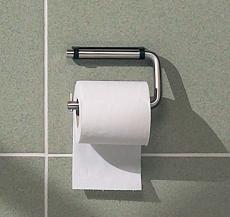 Toiletrulleholder, Hvidt beslag, d line, Sanitet.