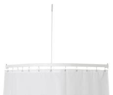 Profil5001 15x30mm badeforhængstang 90x90cm hvid m.loftstøtt