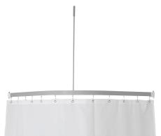 Profil5001 15x30mm badeforhængstang 90x90cm sølv m.loftstøtt