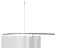 Profil2001 8x25mm forhængstang 90x90cm sølv m.loftstøtte mm