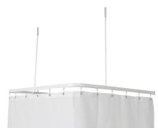 Profil2001 8x25mm forhængstang 90x90x90cm hvid m.2loftstøtte