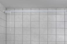 Forhængsstang 70-170 cm hvid