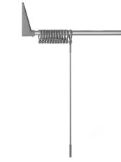 Erica2000 Forskydelig stang 70-170 cm, sølv - komplet