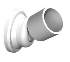 Flexi-konsol til skrå vægge