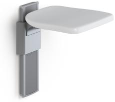Pressalit Plus klapsæde, højderegulérbart, antracitgrå
