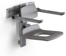 Pressalit Plus brusesæde 450, højde/side regulérbart, hvid
