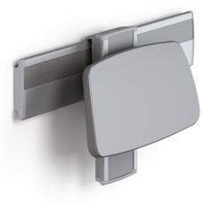 Pressalit Plus ryglæn, højde-/sideværts regulérbart, antraci