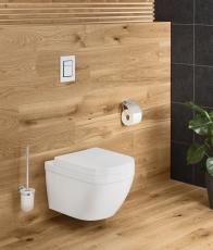 Essentials Toiletbørste + holder af glas / metal vægmontage