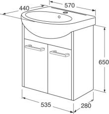 Nordic3 vaskeskab til møbelvask
