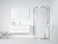 Dansani Luna Møbelsæt 48x121x45 cm m/Kantate vask Hvid hgl.