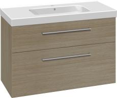 Dansani Luna Møbelsæt 64x101x45 cm m/Menuet vask Eg LED