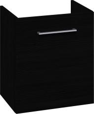 Johansen møbel 50x57,6x35 cm m/låge i sort struktur - uden v