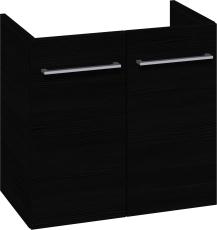 Johansen møbel 60x57,6x35 cm m/låger i sort struktur - uden