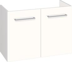 Johansen møbel 80x57,6x35 cm m/låger i hvid højglans - uden