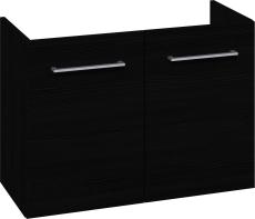 Johansen møbel 80x57,6x35 m/låger i sort struktur - uden vas