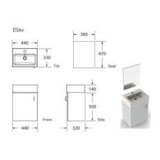 Elite møbelpakke med spejl hvid