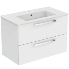 IS Eurovit møbelsæt hvid højglans med 2 softclose skuffer