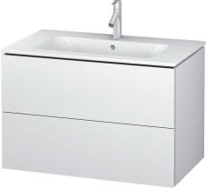 L-Cube vaskeskab 82x48,1cm, 2 skuffer, hvid mat