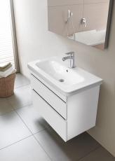 Durastyle vaskeskab 73 cm hvid mat 2 skuffer til vask 635495