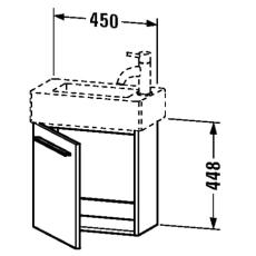 X-large vaskeskab højrehængslet hvid mat passer til 635481