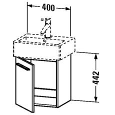 X-large vaskeskab venstrehængslet hvid mat passer til 635482