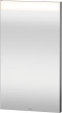 Spejl med LED lysfelt øverst 40x70cm til ekstern kontakt