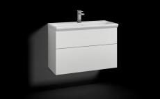 Forma underskab 80x35 hvid 2 skuffer Box ONE