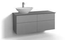 Forma underskab 120x45 grå 4 skuffer Box ONE