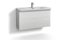 Forma underskab 100x35 hvid 2 skuffer Box One+ greb 6